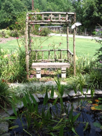 how to build a natural wood arbor