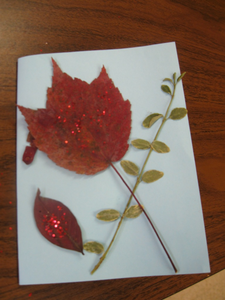 Pressed Foliage Craft At Clapps Nursing Center Diana Digs Dirt
