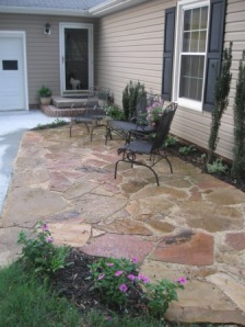 Installing a Stone Patio-DIY | Diana Digs Dirt