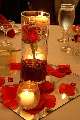 Even a simple landscape can have a powerful effect Centerpieces usually